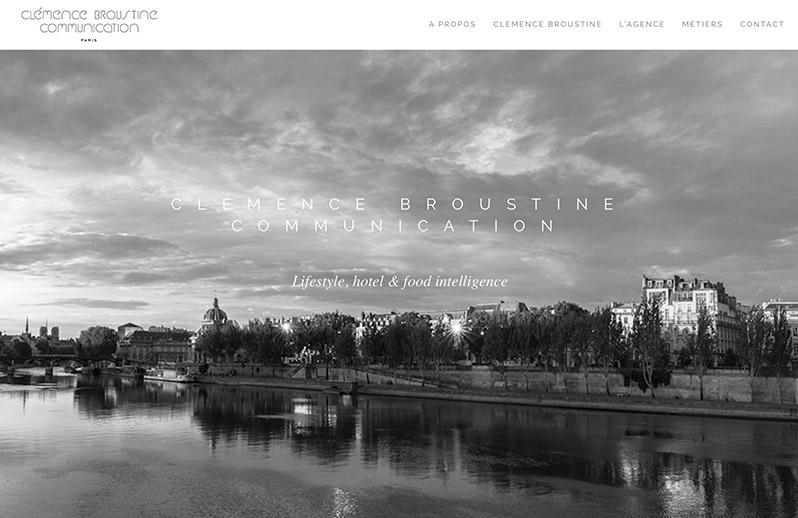 page d'accueil du site internet broustine communication
