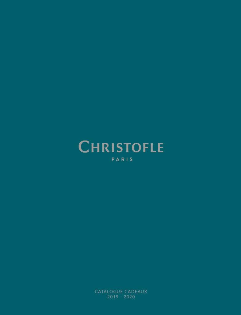 couverture catalogue cadeaux 2019-2020 Christofle