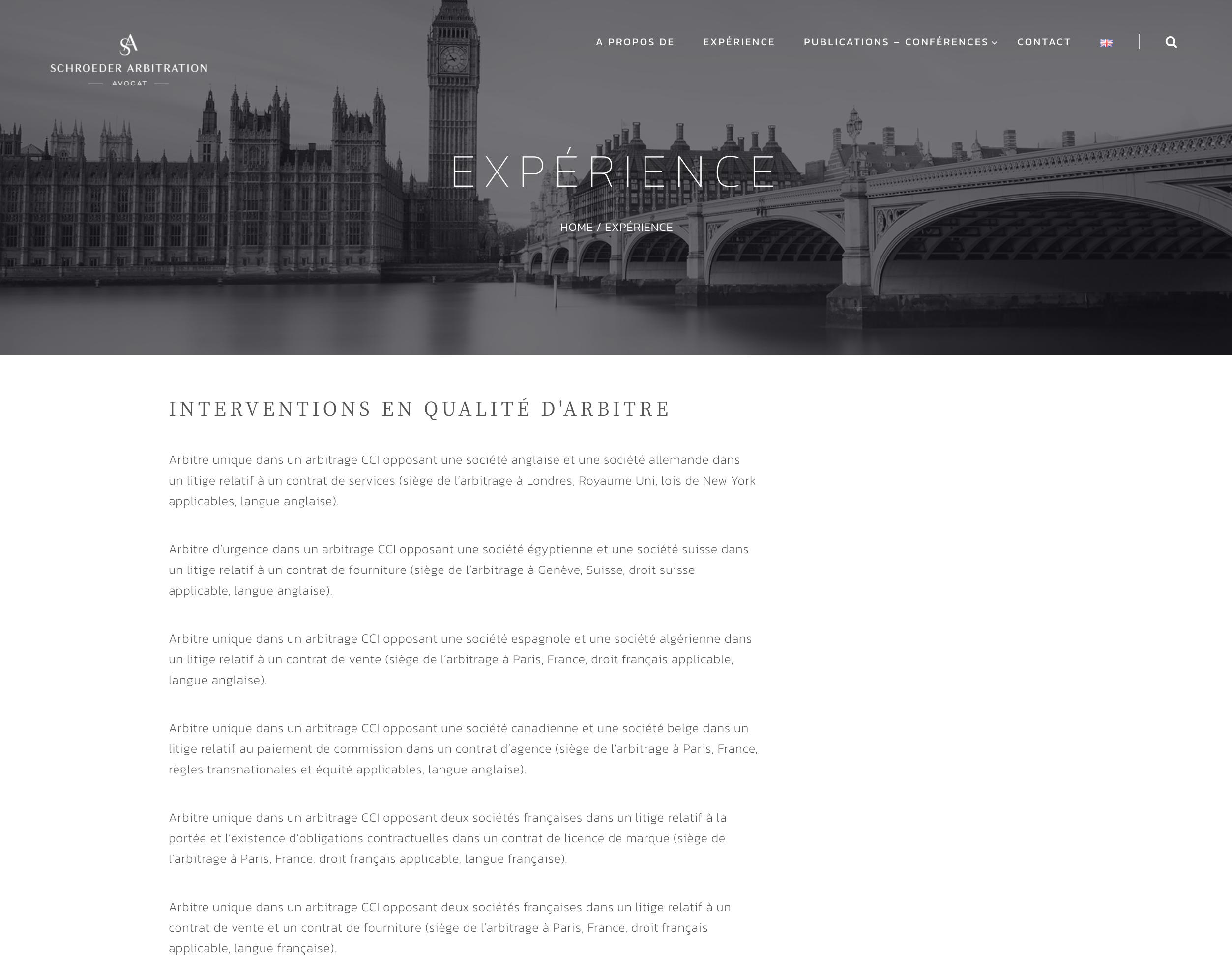 schroeder-arbitration.com- experience - studio421