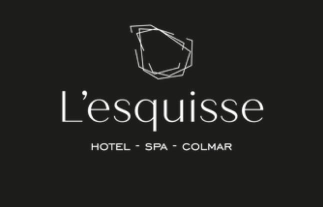 04 logo blanc Hotel lesquisse colmar - studio421